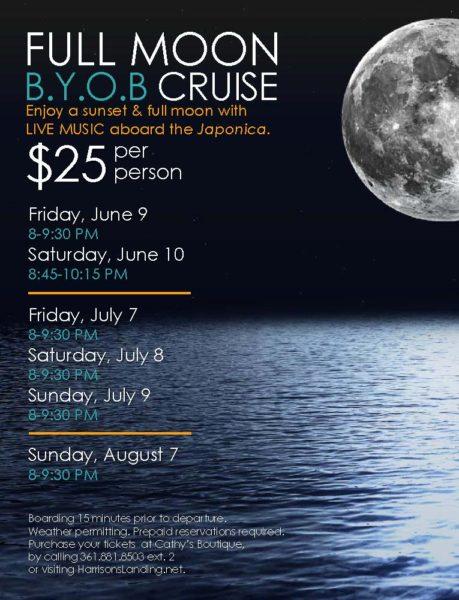 Full Moon BYOB Cruise @ Harrison's Landing - Japonica | Corpus Christi | Texas | United States