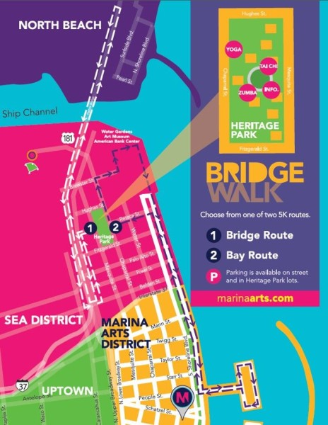 Bridgwalk Map
