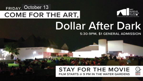Dollar After Dark before Corpus Christi's Ride-In Theater @ The Art Museum of South Texas