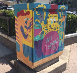 Downtown Corpus Christi Electical Box Painting