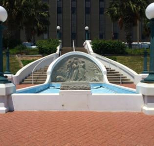 Corpus Christi Texas Downtown Fountain