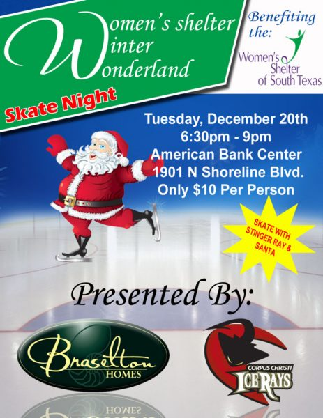 Skate Night for the Women's Shelter Hosted By the Ice Rays @ American Bank Center